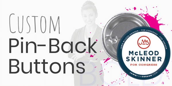 Shop our custom pin-back buttons